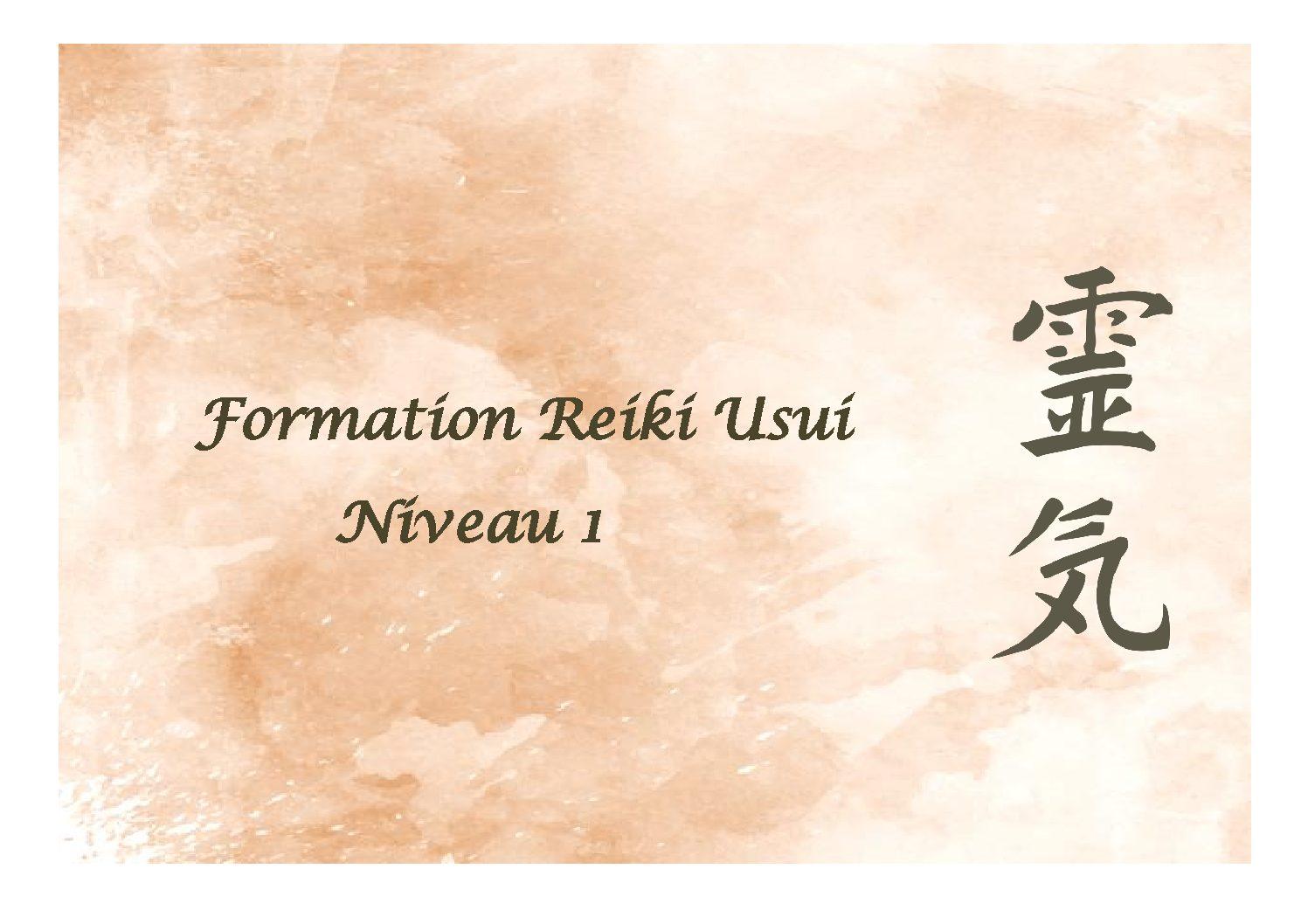 Formation Reiki Usui - Niveau 1